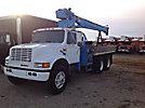 Pitman HL960, Hydraulic Truck Crane mounted behind cab on 1992 International 4900 T/A Flatbed Truck
