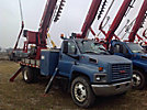 Pitman M50 Plus, Digger Derrick rear mounted on 2003 GMC C7500 Flatbed/Utility Truck