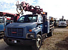 Pitman M50 Plus, Digger Derrick rear mounted on 2006 GMC C7500 Flatbed/Utility Truck