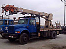 Pitman P55H-T-PLUS DAPC, Digger Derrick, rear mounted on, 2002 International 4800 4x4 Flatbed Truck