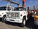 Pittman PK12000B, Hydraulic Knuckle Boom Crane mounted behind cab on 1987 GMC 7000 Flatbed/Utility Truck