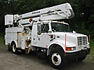 Posi Plus 400-46, Material Handling Bucket Truck, rear mounted on, 2002 International 4700 Extended-Cab Utility Truck