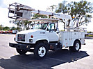 Posi Plus 800-40, Telescopic Cable Placing Bucket Truck rear mounted on 2000 GMC C6500 Flatbed Reel Truck
