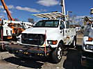 Posi Plus 800-40-020, Telescopic Non-Insulated Cable Placing Bucket Truck, rear mounted on, 2001 Ford F650 Utility Truck