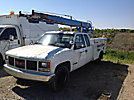 Powers PM201, Ladder Truck, center mounted on, 1995 GMC C3500 Extended-Cab Service Truck