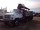 Prentice 120, Grappleboom Crane mounted behind cab on 1997 GMC C8500 T/A Dump Truck