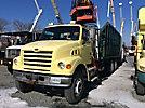 Prentice 124 BC, Grappleboom/Log Loader Crane, mounted behind cab on, 2006 Sterling LT7500 T/A Debris Dump Truck