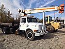 RO 80-36, Hydraulic Crane mounted behind cab on 1990 International 1954 Flatbed Truck