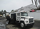 Reach All, Bucket Truck, rear mounted on, 1988 Mack CM422 Flatbed/Utility Truck
