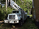 Reach All AE95, Articulating & Telescopic Material Handling Bucket Truck, rear mounted on, 1997 International 5000 6x6 Utility Truck
