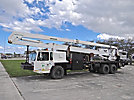 Reach All AP100-MH XFO, Articulating & Telescopic Material Handling Bucket Truck, rear mounted on, 1993 Badger T/A Utility Truck