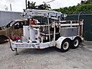 SDP EZH22H, Back Yard Digger Derrick mounted on 2005 SDP Rubber Tired Back Yard Carrier