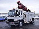 Simon Telelect Commander 4045, Digger Derrick corner mounted on 2000 GMC T8500 Utility Truck