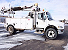 Simon Telelect Commander 4045, Digger Derrick mounted behind cab on 2005 Freightliner M2 106 Utility Truck