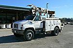 Simon Telelect TELECON II, Digger Derrick rear mounted on 2000 Chevrolet C7500 Utility Truck