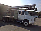Skyhoist SD80-SP, Telescopic Sign Crane rear mounted on 1997 Freightliner FL70 Flatbed Truck