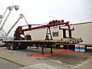 Skyhook, Sign Crane Platform Lift, trailer mounted, 1985 Trailmobile T/A High Flatbed Trailer, F71T-5SAJ Model 130