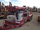 Skylift Mini D33, Back Yard Digger Derrick mounted on SkyLift Rubber Tired Back Yard Carrier