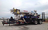 Skylift MiniD33+, Back Yard Digger Derrick, mounted on, 2005 SkyLift Rubber Tired Back Yard Carrier, 2005 Bri-Mar EH16-10 support trailer vin # 43YDC16275C047746