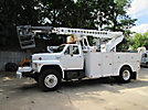 T40C, Non-Insulated Cable Placing Bucket Truck, center mounted on1988 Ford F800 Utility Truck