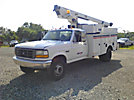 TELSTA A28D, Telescopic Non-Insulated Bucket Truck, 1997 Ford F450 Service Truck