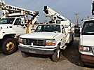 TELSTA A28D, Telescopic Non-Insulated Bucket Truck, mounted behind cab on, 1997 Ford F450 Service Truck