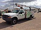 TELSTA A28D, Telescopic Non-Insulated Bucket Truck, mounted behind cab on, 1999 Ford F450 Service Truck