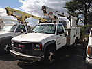TELSTA A28D, Telescopic Non-Insulated Bucket Truck, mounted behind cab on, 2000 GMC C3500HD Service Truck