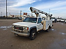 TELSTA A28D, Telescopic Non-Insulated Bucket Truck, mounted behind cab on, 2000 GMC C3500HD Service Truck