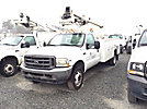 TELSTA A37, Articulating & Telescopic Non-Insulated Bucket Truck mounted behind cab on 2003 Ford F550 Service Truck