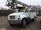 TELSTA T36C, Telescopic Non-Insulated Cable Placing Bucket Truck, center mounted on, 1999 GMC C6500 Utility Truck