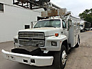 TELSTA T40C, Telescopic Non-Insulated Cable Placing Bucket Truck, center mounted on, 1988 Ford F800 Utility Truck