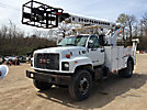 TELSTA T40C, Telescopic Non-Insulated Cable Placing Bucket Truck, center mounted on, 1999 GMC C7500 Utility Truck