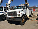 Teco A4H-45R, Digger Derrick, rear mounted on, 2000 GMC C7500 Utility Truck