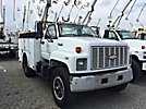 Teco G5-37IP-2TFS1, Material Handling Bucket Truck, center mounted on, 1991 Chevrolet Kodiak Utility Truck