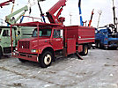 Teco S5-53I2P-2TRS1, Over-Center Bucket Truck, mounted behind cab on, 2000 International 4700 Chipper Dump Truck