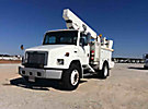Telelect, Articulating & Telescopic Material Handling Bucket Truck, mounted behind cab on, 2002 Freightliner FL80 Utility Truck