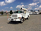 Telelect 4042, Digger Derrick, mounted behind cab on, 2001 International 4900 Utility Truck