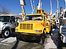 Telelect 4042, Digger Derrick, mounted behind cab on, 2002 International 4900 Utility Truck