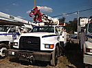 Telelect 4045, Digger Derrick, rear mounted on, 1998 Ford F800 Flatbed/Utility Truck
