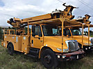 Telelect 4045, Digger Derrick rear mounted on 2006 International 4300 Utility Truck