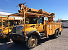 Telelect 4045, Digger Derrick rear mounted on 2007 International 7300 4x4 Utility Truck