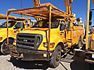 Telelect 4045, Digger Derrick rear mounted on 2009 Ford F750 Utility Truck