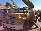 Telelect 46-OM, Material Handling Bucket Truck rear mounted on 1991 Ford F800 Utility Truck