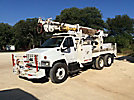 Telelect 92-47, Digger Derrick rear mounted on 2003 Chevrolet C8500 T/A Flatbed/Utility Truck