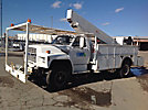 Telelect C2440-TGZ, Telescopic Insulated Platform Lift, mounted behind cab on, 1991 Ford F800 Utility Truck