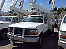 Telelect C327, Telescopic Non-Insulated Bucket Truck mounted behind cab on 1997 Ford F450 Service Truck