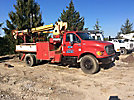 Telelect Commander 4042, Digger Derrick mounted behind cab on 2001 Ford F750 Utility Truck
