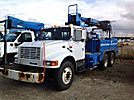 Telelect Commander 4045, Digger Derrick, mounted behind cab on, 2000 International 4900 T/A Utility Truck