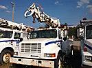 Telelect Commander 4045, Digger Derrick, rear mounted on, 1997 International 4700 Utility Truck
